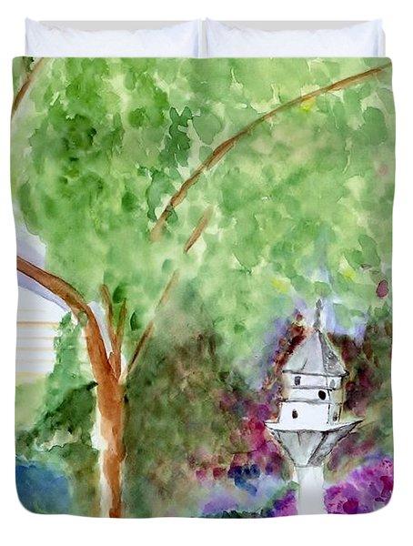Birdhouse Duvet Cover by Jamie Frier