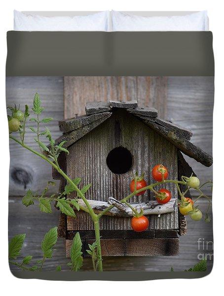 Birdhouse Duvet Cover