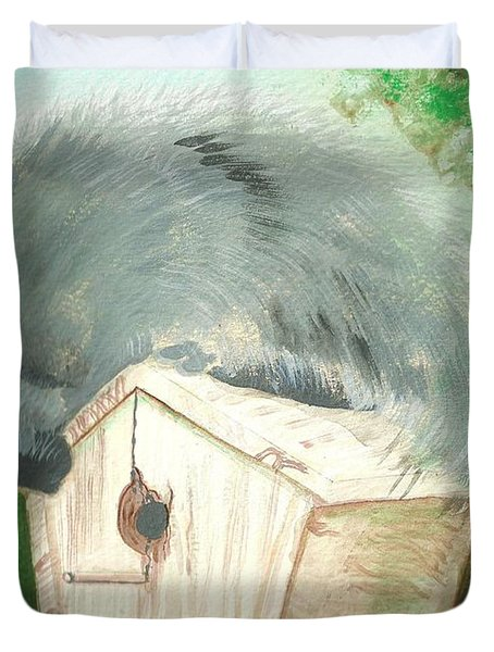 Birdie In The Hole Duvet Cover