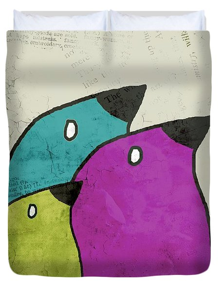 Birdies - V06c Duvet Cover by Variance Collections