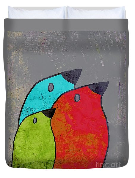 Birdies - V11b Duvet Cover by Variance Collections