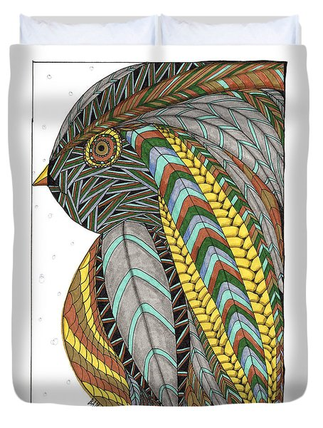 Bird_inquisitive_s007 Duvet Cover