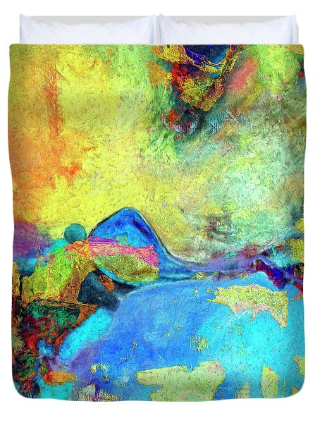 Duvet Cover featuring the painting Birdland by Dominic Piperata