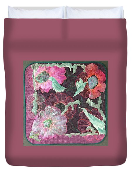 Birds And Blooms Duvet Cover