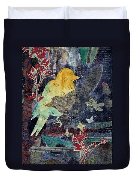 Birds And Butterflies Duvet Cover