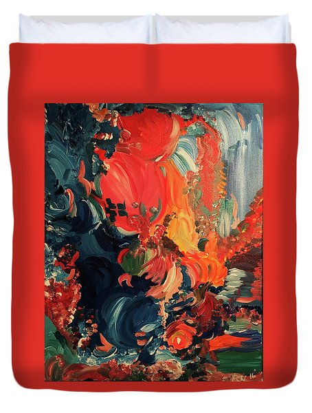 Birds And Creatures Of Paradise Duvet Cover