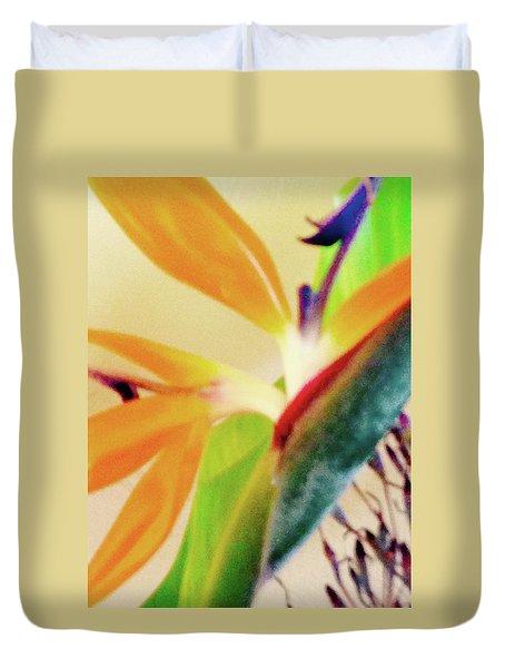 Birds Bromeliads Halyconia 2 Duvet Cover