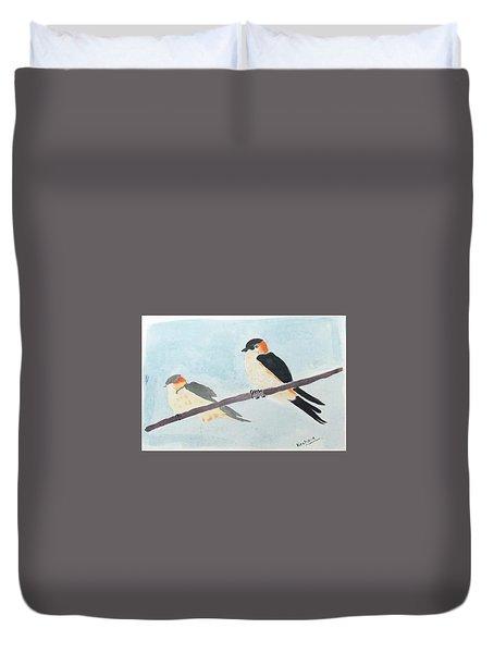 Birds Couple Duvet Cover
