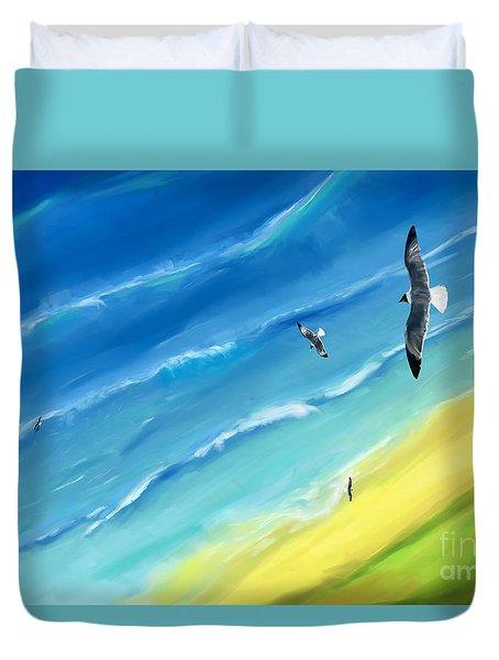 Bird's-eye Above Sea Duvet Cover