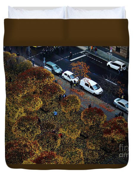 Bird's Eye Of A Berlin Street Duvet Cover