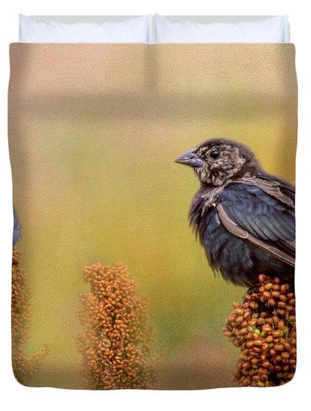 Birds In The Milo Crop Duvet Cover