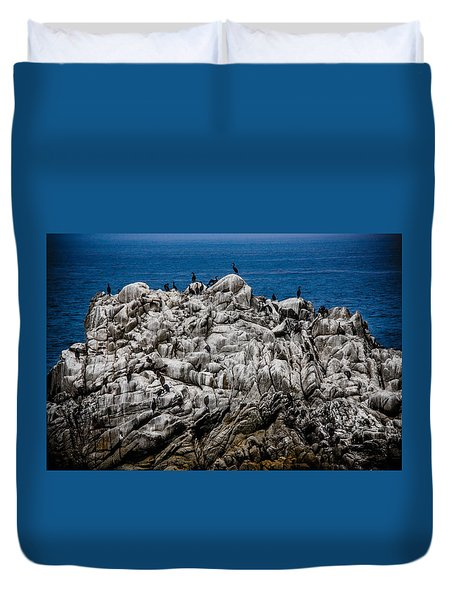 Bird's Island Duvet Cover by Patrick Boening