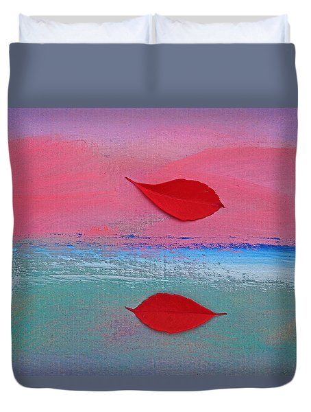 Duvet Cover featuring the painting Birds Like Fish by Charles Stuart