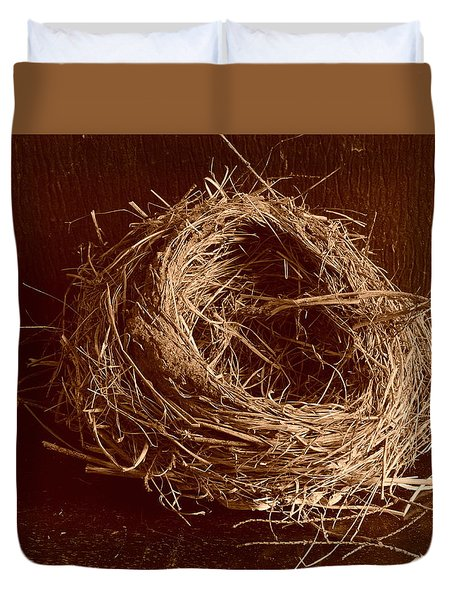 Bird's Nest Sepia Duvet Cover