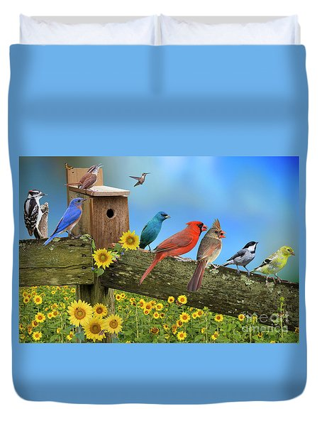 Duvet Cover featuring the photograph Birds Of A Feather by Bonnie Barry