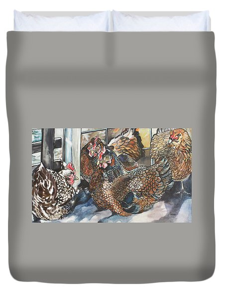Birds Of A Feather Duvet Cover by Stephanie Come-Ryker