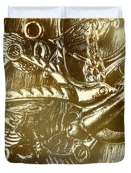 Birds Of Metal Duvet Cover