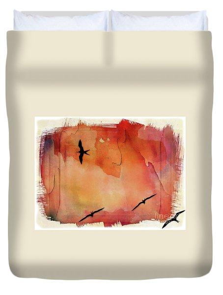 Birds Of Pedasi, In The Dry Arc Of Panama II Duvet Cover