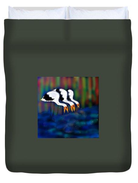 Birds Of Same Feather Duvet Cover
