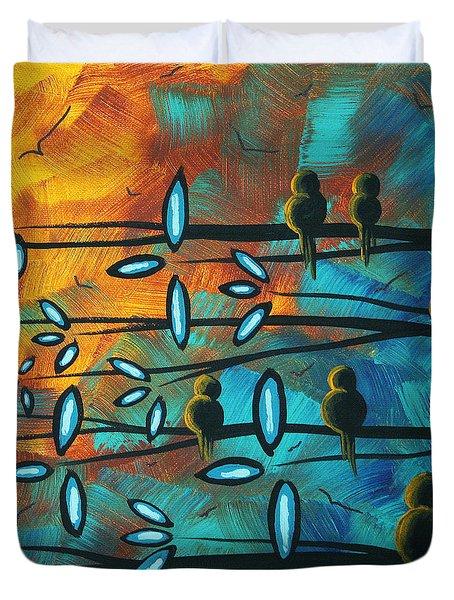Birds Of Summer By Madart Duvet Cover by Megan Duncanson