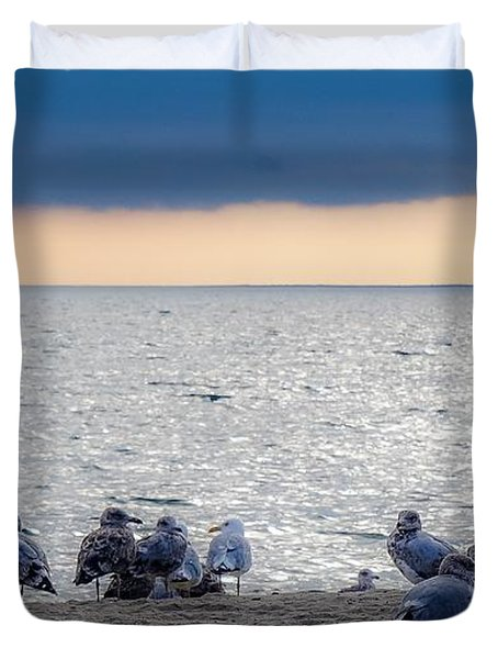 Birds On A Beach Duvet Cover