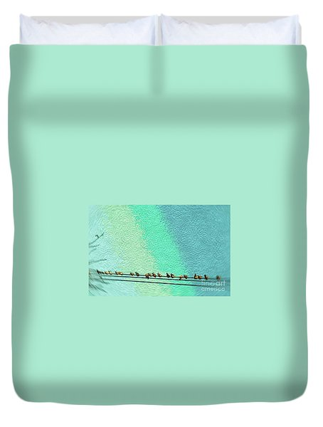 Bird On The Wire Duvet Cover
