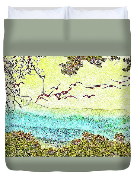 Birds Over Horizon - Boulder County Colorado Duvet Cover by Joel Bruce Wallach