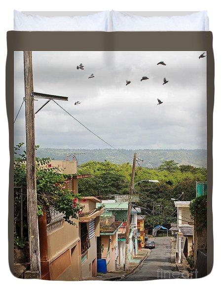 Birds Over Yabucoa Duvet Cover