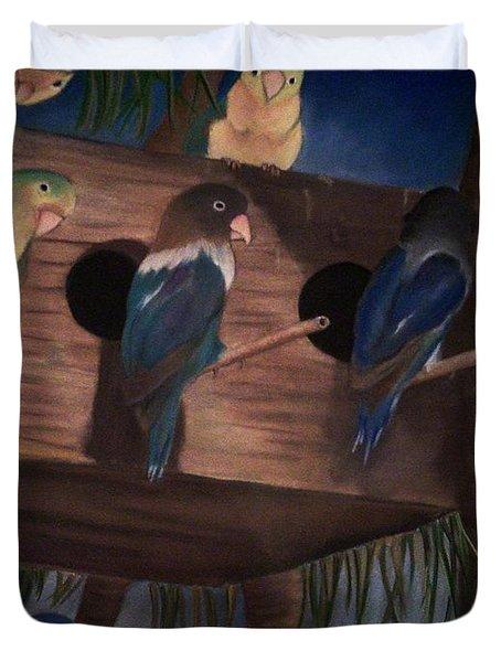Birds Resting Duvet Cover
