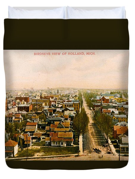 Birdseye View Of Holland Michigan Duvet Cover