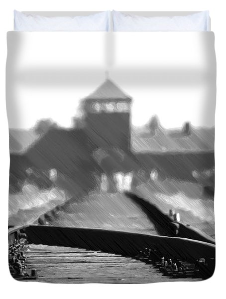 Birkenau / Auschwitz Railhead - Pol402324 Duvet Cover