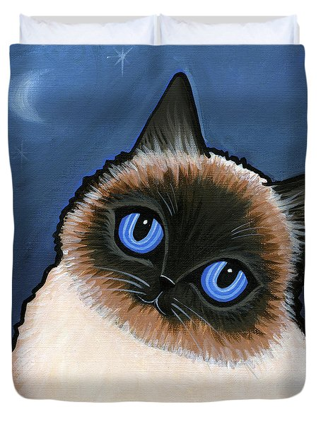 Birman Blue Night Duvet Cover by Leanne Wilkes