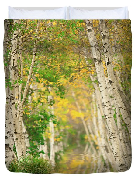 Duvet Cover featuring the photograph Birtch Row  by Emmanuel Panagiotakis
