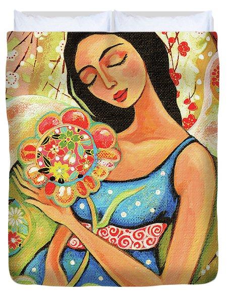 Birth Flower Duvet Cover