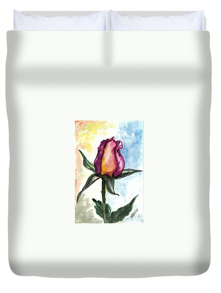 Duvet Cover featuring the painting Birth Of A Life by Harsh Malik