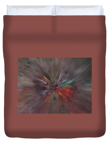 Duvet Cover featuring the painting Birth Of A Soul by Michael Lucarelli