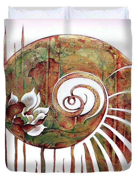 Birth Of Lotus Land Duvet Cover