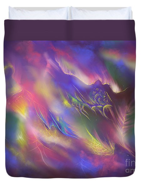 Duvet Cover featuring the digital art Birth Of The Phoenix by Amyla Silverflame