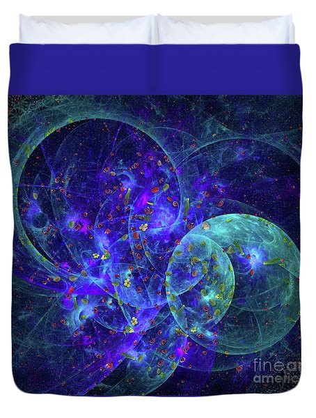 Birth Of Time By Raphael Terra Duvet Cover