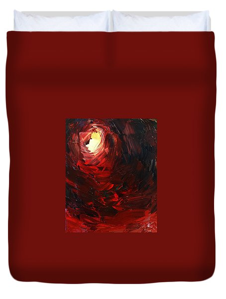 Duvet Cover featuring the painting Birth by Sheila Mcdonald