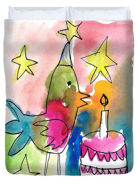 Birthday Bird Duvet Cover