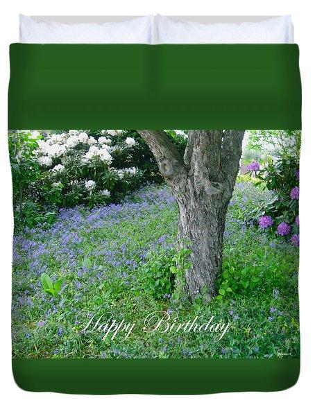 Birthday Carpet Of Blue Duvet Cover by Deborah Dendler