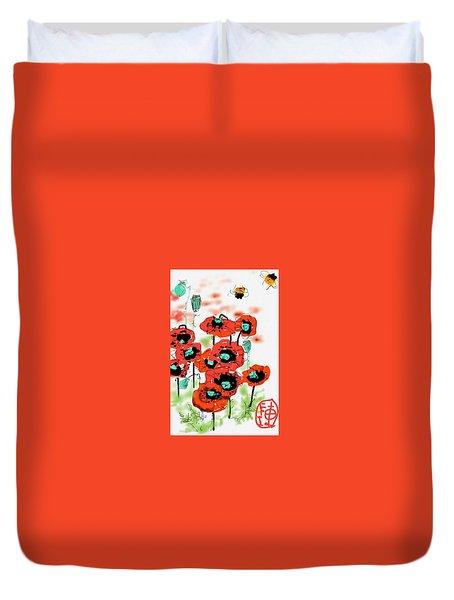 Birthday Field Of Flowers  Duvet Cover