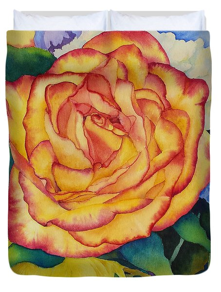 Birthday Rose Duvet Cover