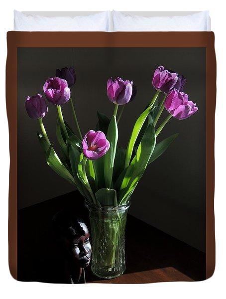Birthday Tulips. Duvet Cover