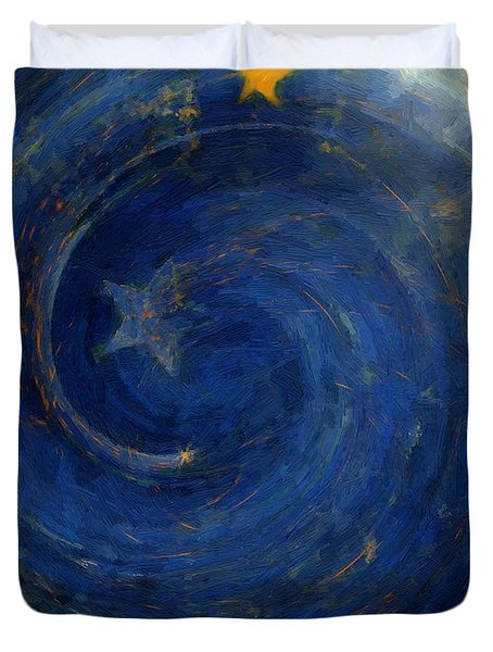 Birthed In Stars Duvet Cover