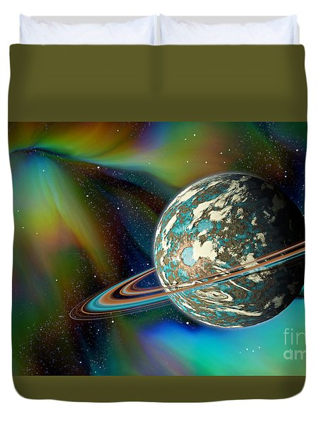 Birthing Planet Duvet Cover