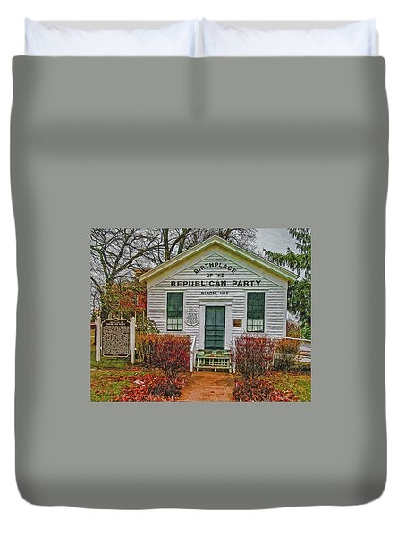 Birthplace Republican Party Duvet Cover by Trey Foerster
