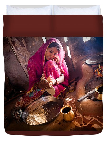 Bishnoi Kitchen Duvet Cover