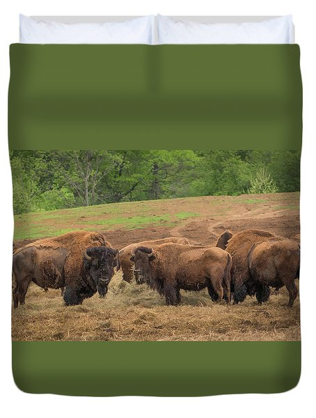 Duvet Cover featuring the photograph Bison 2 by Joye Ardyn Durham